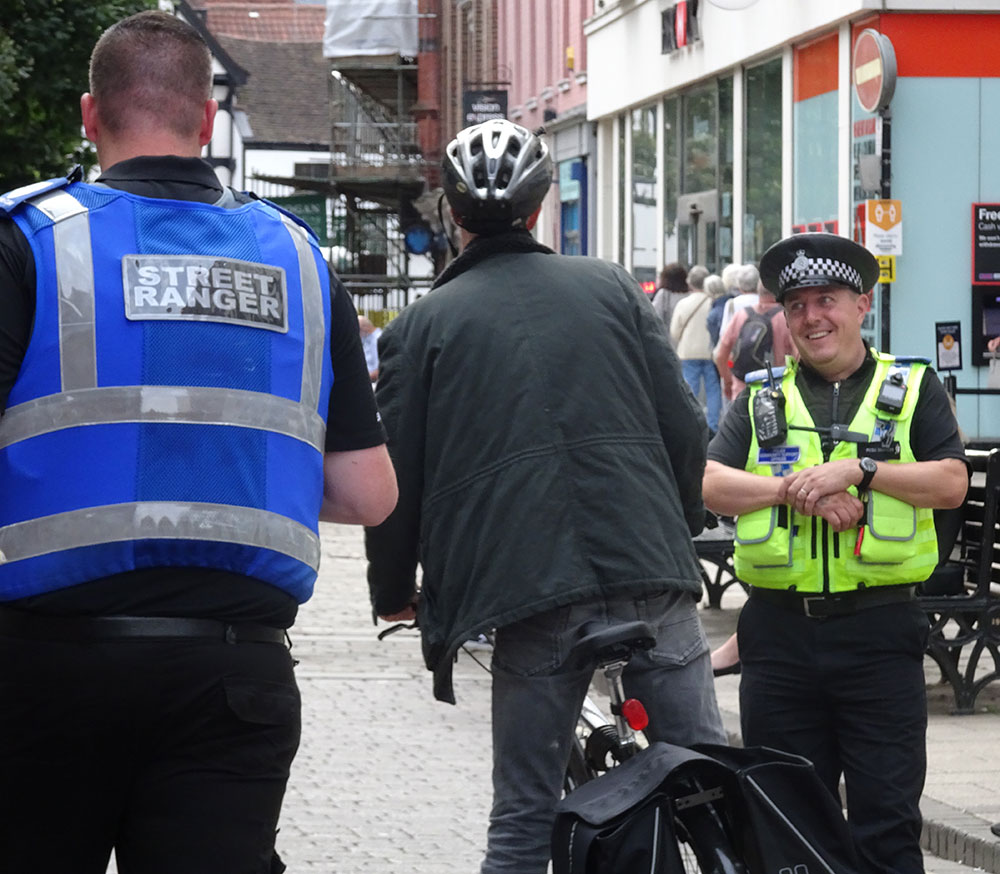 Eboracum's CSAS staff join police to tackle anti-social cycling.